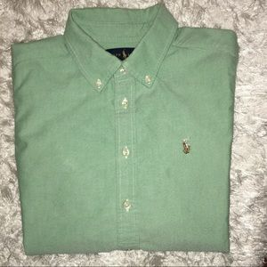 EUC RALPH LAUREN BUTTON DOWN L/S POLO SHIRT - S/L